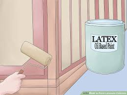 Can I Paint Over Laminate Kitchen Cabinets How To Paint Laminate Cabinets 7 Steps With Pictures Wikihow