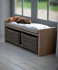 built in entry storage bench hooks baskets cabinet storage bench