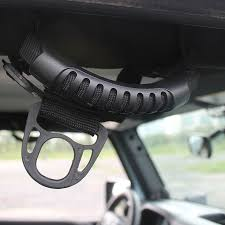 jeep new black new black car unlimited roll bar grab pull handles thin holder fit