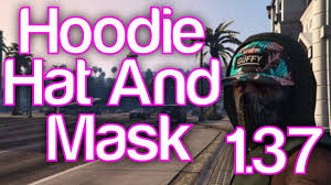 gta 5 online how to wear a mask hat and hoodie in gta online