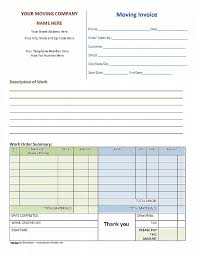 free printable work invoice template work invoice template free unique moving invoice template to