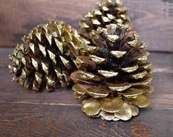 gold pinecone etsy