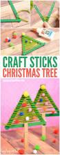 3 popsicle stick christmas ornaments kids craft christmas