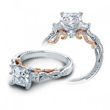 princess cut 3 engagement rings verragio insignia 3 engagement setting jr dunn