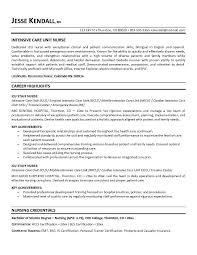 resume for a registered nurse template icu rn resume sample toreto co