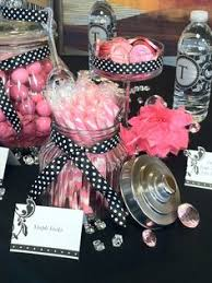 Pink And Black Candy Buffet by Pink Black U0026 White Guest Dessert Feature Cardboard Chandelier