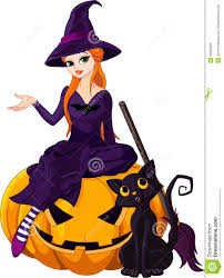 halloween witch on pumpkin royalty free stock photo image 26922825