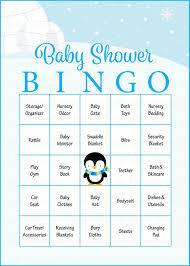 winter baby shower game download for boy baby bingo u2013 celebrate