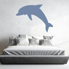 diving dolphin silhouette under the sea wall stickers bathroom diving dolphin silhouette under the sea wall stickers bathroom decor art decals