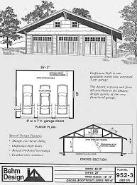 craftsman style garage plans 3 cars attic craftsman style garage plans 952 3 35 2 x 28 behm