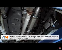 Ford Raptor Exhaust System - mbrp exhaust system for ford f 150 2 7 ecoboost sounds just right