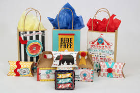 makeover kids party favor bags and boxes with a circus theme