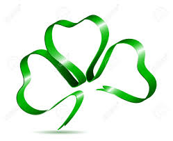 leaf ribbon three leaf clover shape from ribbon royalty free cliparts vectors
