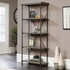 Sauder Premier 5 Shelf Composite Wood Bookcase Sauder Becker Furniture World Cities Minneapolis St