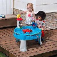 step 2 rain showers splash pond water table step2 rain showers splash pond sand and water table ebay