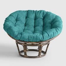 papasan chair cover porcelain micro suede papasan chair cushion world market