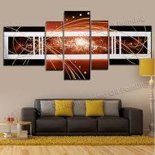 aliexpress com buy 5 piece canvas art 100 hand painted living