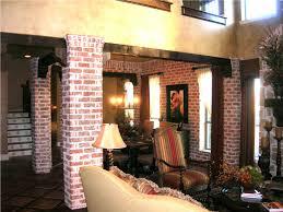 interior living packer brick dining room columns 01