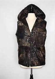 light brown vest womens handmade dark brown genuine leather zipper hood womens vest size l