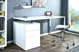 bureau laqué blanc design bureau dangle zeta en bois blanc laque design cleanemailsfor me