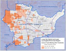Los Angeles Regions Map by Council For Watershed Health Map Library
