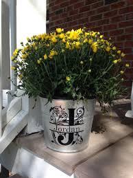 personalized flower pot personalized flower pot s day gift galvanized