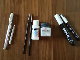 art supplies that i use for my drawing videos on youtube