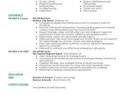 Aircraft Mechanic Resume Template Download Mechanic Resume Example Haadyaooverbayresort Com