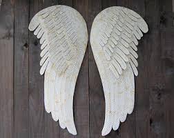 Wings Wall Decor Angel Wings Wall Decor Shabby Chic Aqua Gold Hand