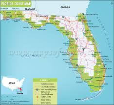 coast map florida coast map map of florida coast