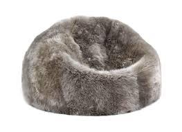 Beanie Chair Fibre By Auskin Sheepskin Bean Bag Chair Vole Gray 3 U2032 Filled