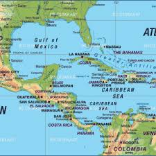 map central mexico map of central america caribbean states new zone