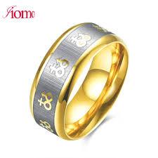 alliances homme iiomo 2017 rings gold titanium ring for men alliance