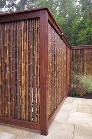Modern Backyard Fence by Best 25 Bamboo Fencing Ideas On Pinterest Terrace Tuin And