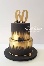 black and gold cake for a man u0027s 60th birthday birthday