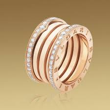 bvlgari rings online images Fake bvlgari b zero1 4 band ring in 18k pink gold with pave jpg
