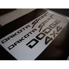 dodge dakota sport decals amazon com dodge dakota sport decals tailgate 4x4 stickers gloss