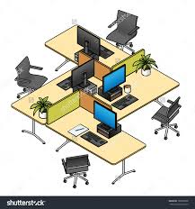 an office layout with workstationscubiclesworkspaces dividers