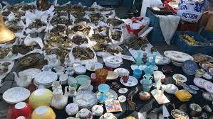 brussels belgium 8 oct 2016 landmark flea market at jeu