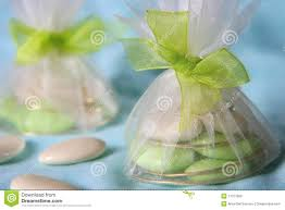 tulle bags tulle bags wih wedding dragees stock image image of celebration
