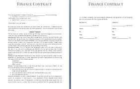 doc 816518 financial agreement between two parties u2013 finance