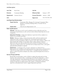Certification Letter Sle For Proof Of Billing Job Description Of A Teller For Resume Free Resume Example And