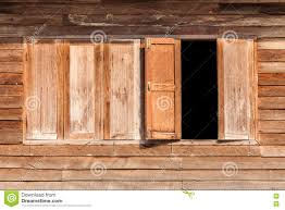 windows made of wood on wooden wall stock image image 71487539