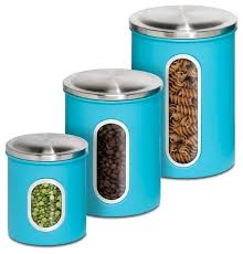 3 kitchen canister set blue kitchen canister sets metal kitchen storage canisters set of