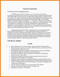 executive summary resume example