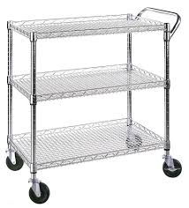 Industrial Kitchen Cart by Commercial Utility Cart Kitchen Garage Mobile Wire Shelves Trolley