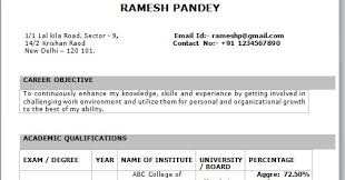 Best Resume Format For Freshers by Resume Examples Resume Format For Freshers