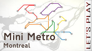 Montreal Subway Map by Mini Metro Montreal Youtube