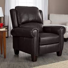 Reclining Leather Armchairs Furniture Leather Wingback Recliner For Comfortable Armchair