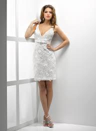 robe mariã e courte robe de mariée civil dentelle col en v dos nu courte m1212043702